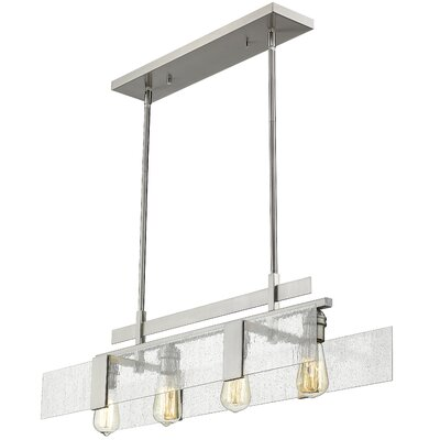 Kristopher 4-Light Kitchen Island Pendant Finish: Brushed Nickel