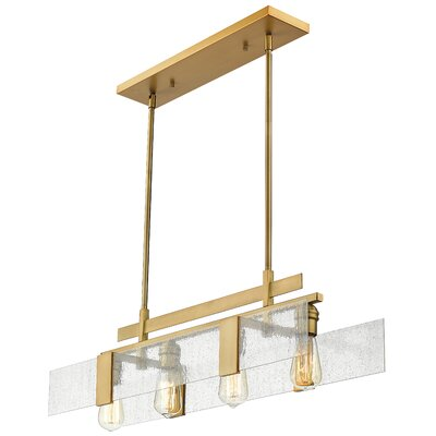 Kristopher 4-Light Kitchen Island Pendant Finish: Vintage Brass