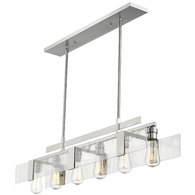 Kristopher 6-Light Kitchen Island Pendant Finish: Brushed Nickel