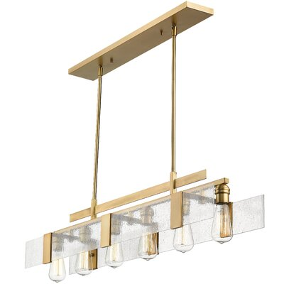 Kristopher 6-Light Kitchen Island Pendant Finish: Vintage Brass