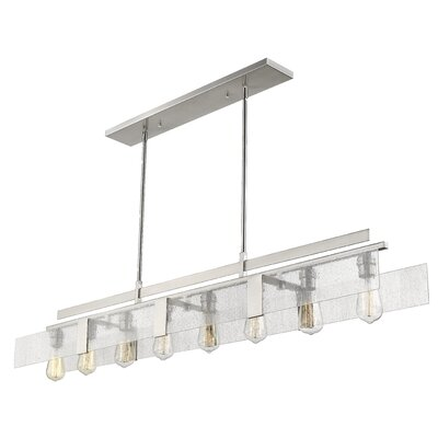 Kristopher 8-Light Kitchen Island Pendant Finish: Brushed Nickel