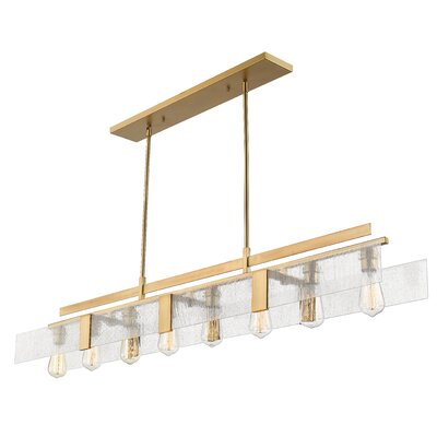 Kristopher 8-Light Kitchen Island Pendant Finish: Vintage Brass