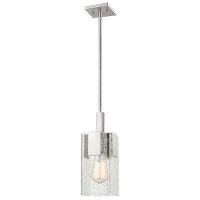 Kristopher 1-Light Mini Pendant Finish: Brushed Nickel