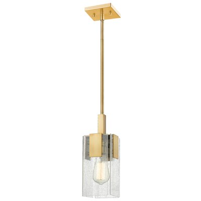 Kristopher 1-Light Mini Pendant Finish: Vintage Brass