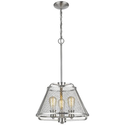 Valya 3-Light Foyer Pendant Light Finish: Brushed Nickel