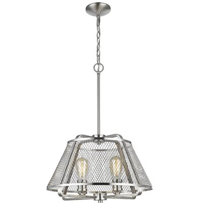 Valya 4-Light Foyer Pendant Light Finish: Brushed Nickel