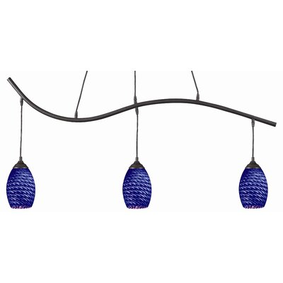 Crouse 3-Light Kitchen Island Pendant Color: Blue