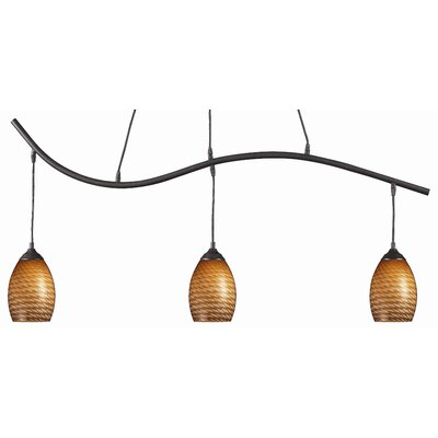 Jazz 3-Light Kitchen Island Pendant Finish: Carmel