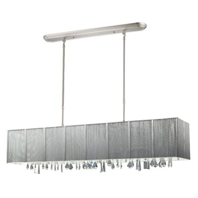 Casia 5-Light Pendant Shade: Silver
