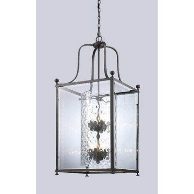 Fairview Foyer Pendant Size / Finish: 43.5 H x 18.5 W / Bronze