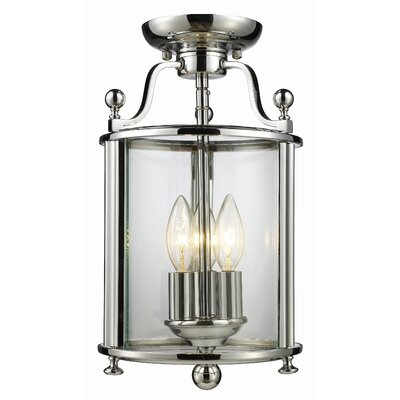 Lucah 3-Light Semi Flush Mount Finish: Chrome