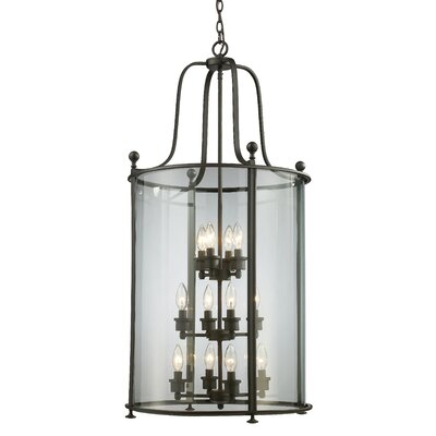 Wyndham 12-Light Foyer Pendant Finish: Bronze