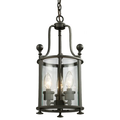 Wyndham 3-Light Foyer Pendant Finish: Bronze