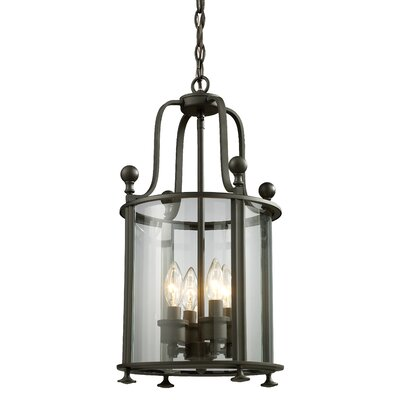 Wyndham 4-Light Foyer Pendant Finish: Bronze