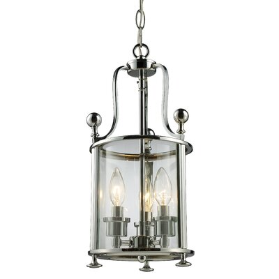 Lucah 3-Light Foyer Pendant Finish: Chrome