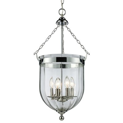 Warwick 4-Light Foyer Pendant Finish: Chrome