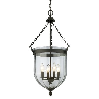 Warwick 4-Light Foyer Pendant Finish: Bronze