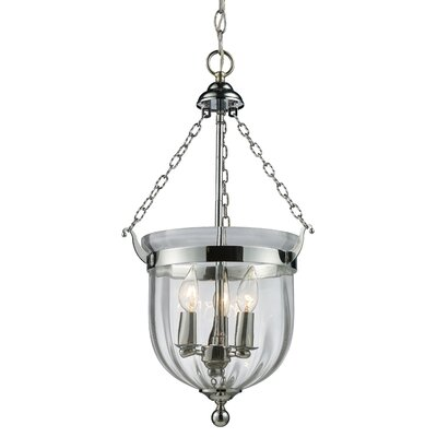 Hegg 3-Light Foyer Pendant Finish: Chrome
