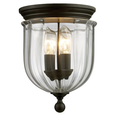 Dyer Avenue 3-Light Flush Mount Finish: Bronze