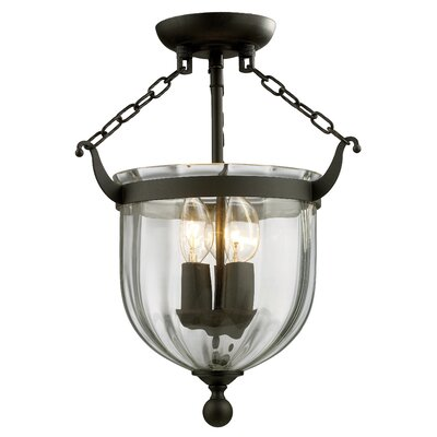 Warwick 3-Light Semi Flush Mount Finish: Bronze