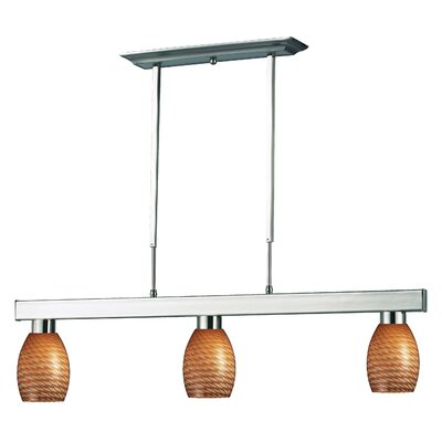 Kohr 3-Light Kitchen Island Pendant Finish: Carmel