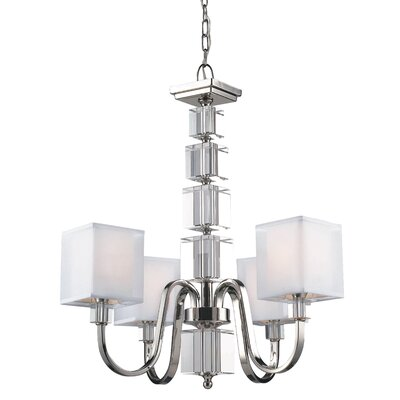 Drake 4-Light Shaded Chandelier