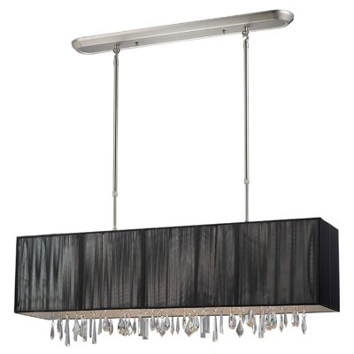 Casia 4-Light Pendant Shade: Black