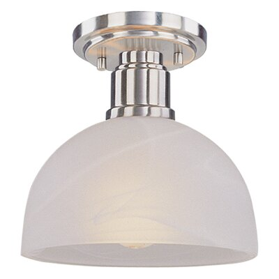 Chelsey 1-Light Flush Mount Finish: Brushed Nickel