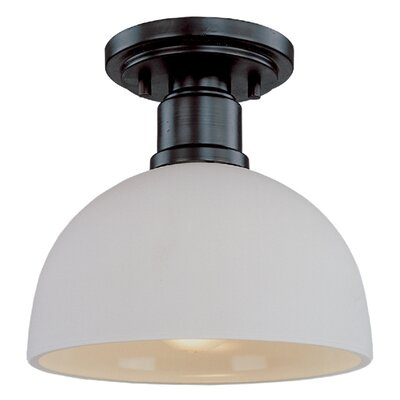 Chelsey 1-Light Flush Mount Finish: Dark Bronze