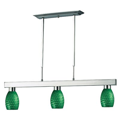Kohr 3-Light Kitchen Island Pendant Finish: Green
