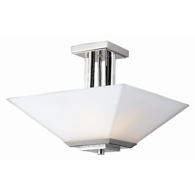Catchings 3-Light Semi Flush Mount