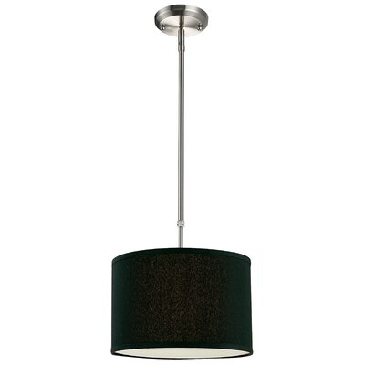 Boese 1-Light Drum Foyer Pendant Finish: Black