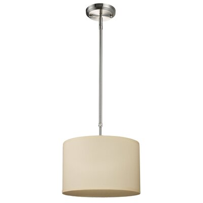 Boese 1-Light Drum Foyer Pendant Finish: Off White