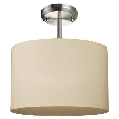 Albion 1-Light Drum Foyer Pendant Finish: Off White