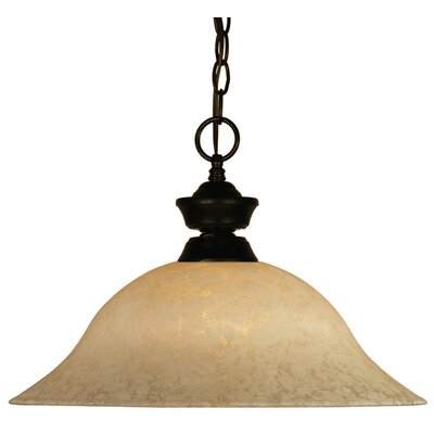 Biller 1-Light Pendant Color: Bronze