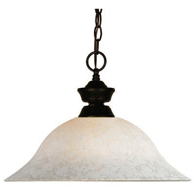 1-Light Pendant Finish: Bronze Metal Frame