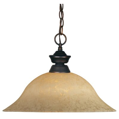 Biller 1-Light Pendant Color: Olde Bronze