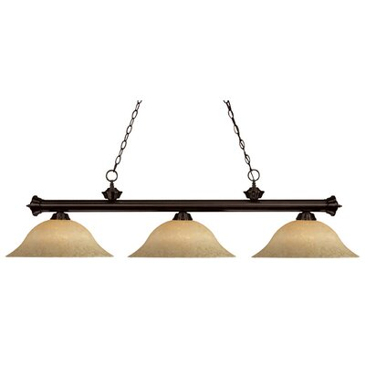 Zephyr Traditional 3-Light Metal Billiard Light Finish: Bronze