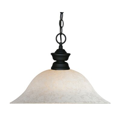 1-Light Pendant Finish: Matte Black