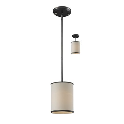 Gamboa 6 Convertible 1-Light Mini Pendant Shade / Finish: Creme / Bronze