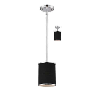 Gamboa 6 Convertible 1-Light Mini Pendant Shade / Finish: Black / Chrome