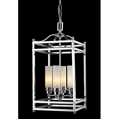 Humiston 4-Light Metal Foyer Pendant Finish: Chrome