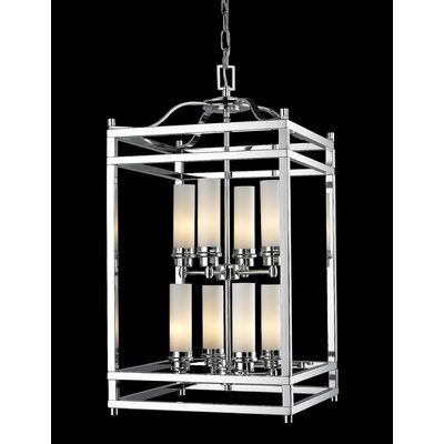Humiston 8-Light Metal Foyer Pendant Finish: Chrome
