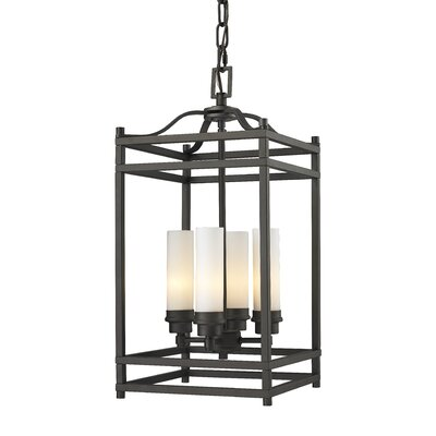 Altadore 4-Light Metal Foyer Pendant Finish: Bronze