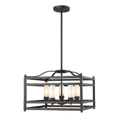 Humiston 5-Light Metal Foyer Pendant Finish: Bronze