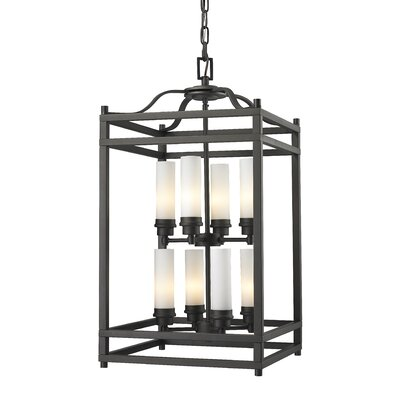 Altadore 8-Light Metal Foyer Pendant Finish: Bronze