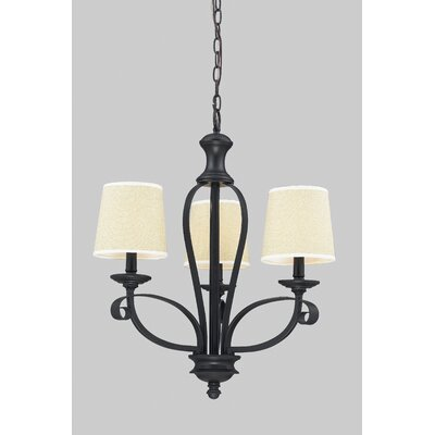 Charleston 3-Light Shaded Chandelier Shade Color: Creme