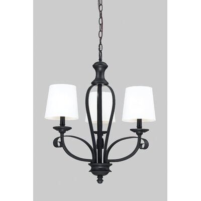 Charleston 3-Light Shaded Chandelier Shade Color: White