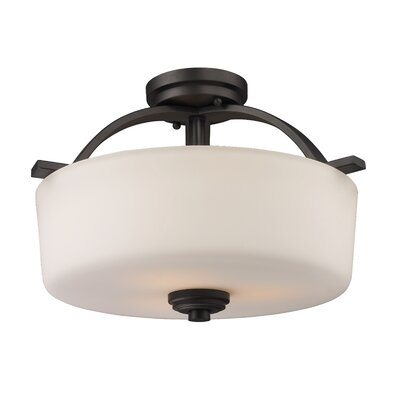 Weissport 3-Light Semi-Flush Mount
