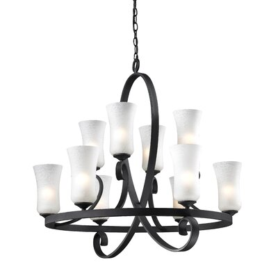 Hummel 10-Light Shaded Chandelier